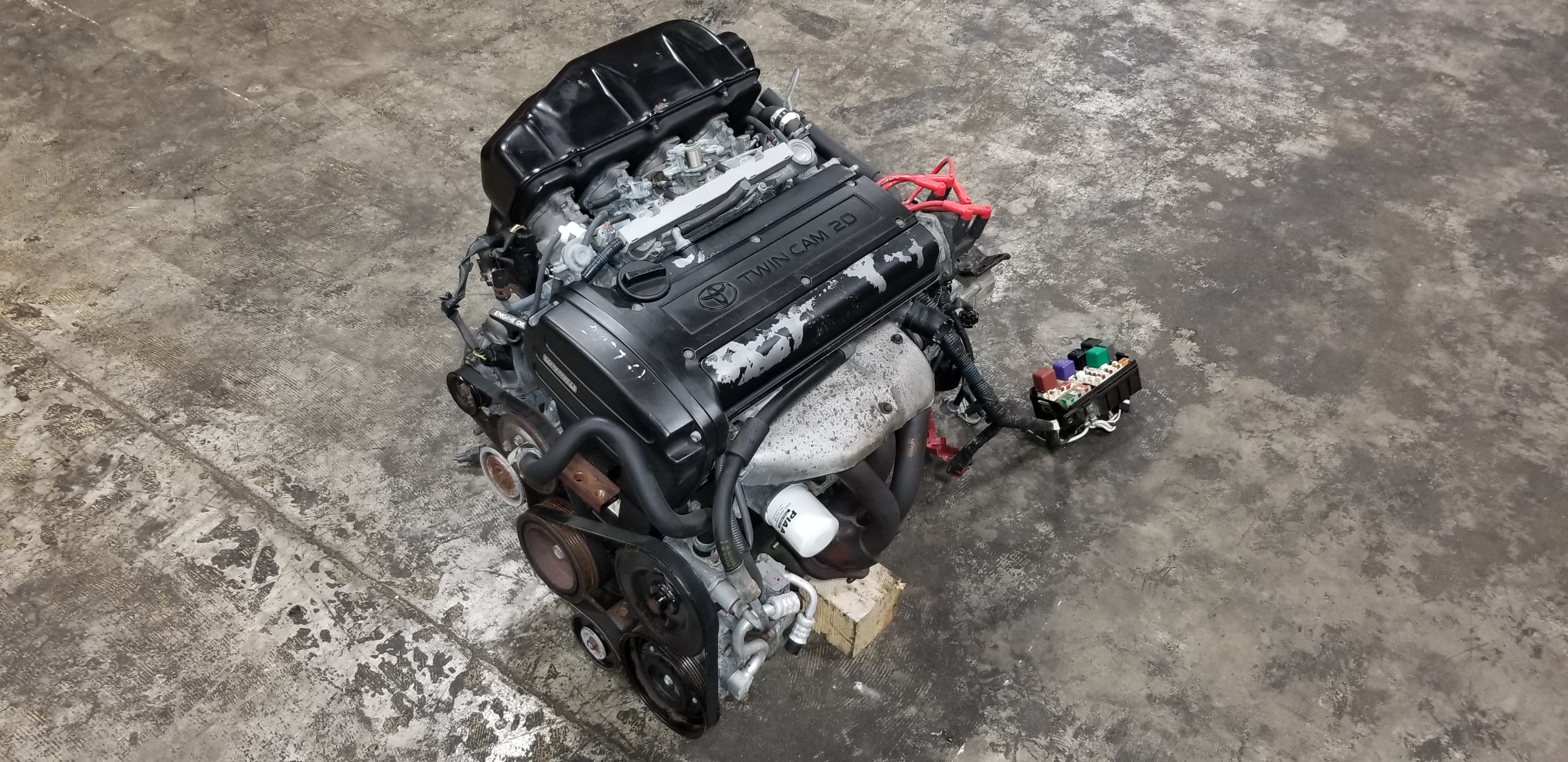4AGE 20V BLACK TOP COROLLA AE111 COMPLETE ENGINE SWAP M/T 5 SPEED