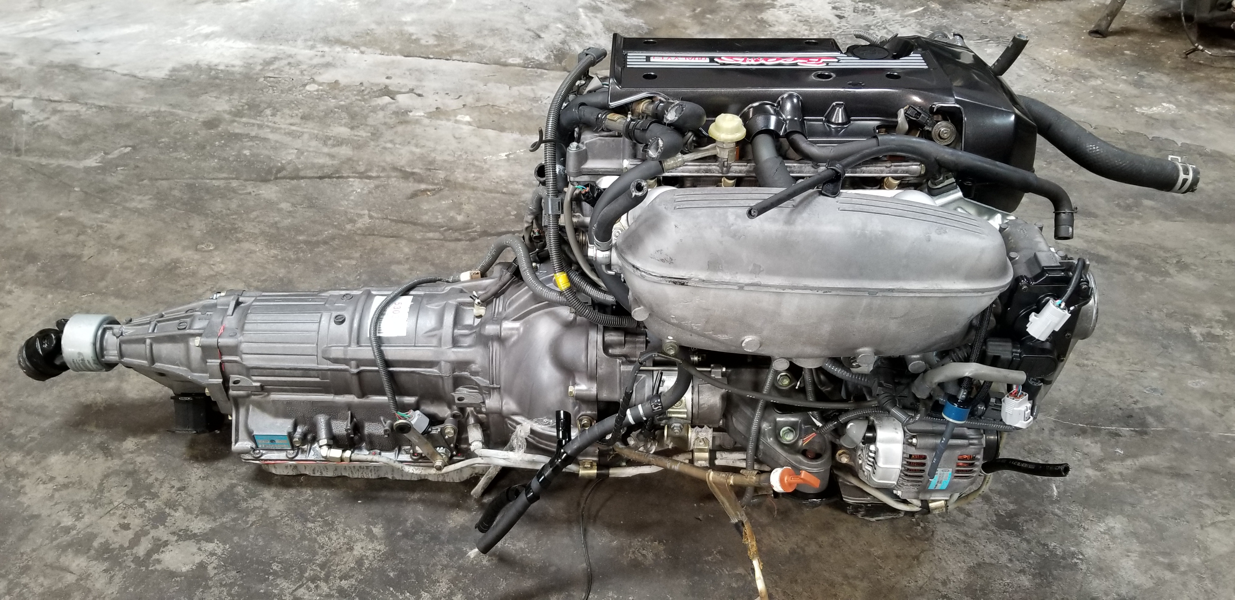 BEAMS 3SGE 2.0L Dual VVTi Blacktop Engine with Automatic Transmission Swap JDM 1998-2005 Toyota ...