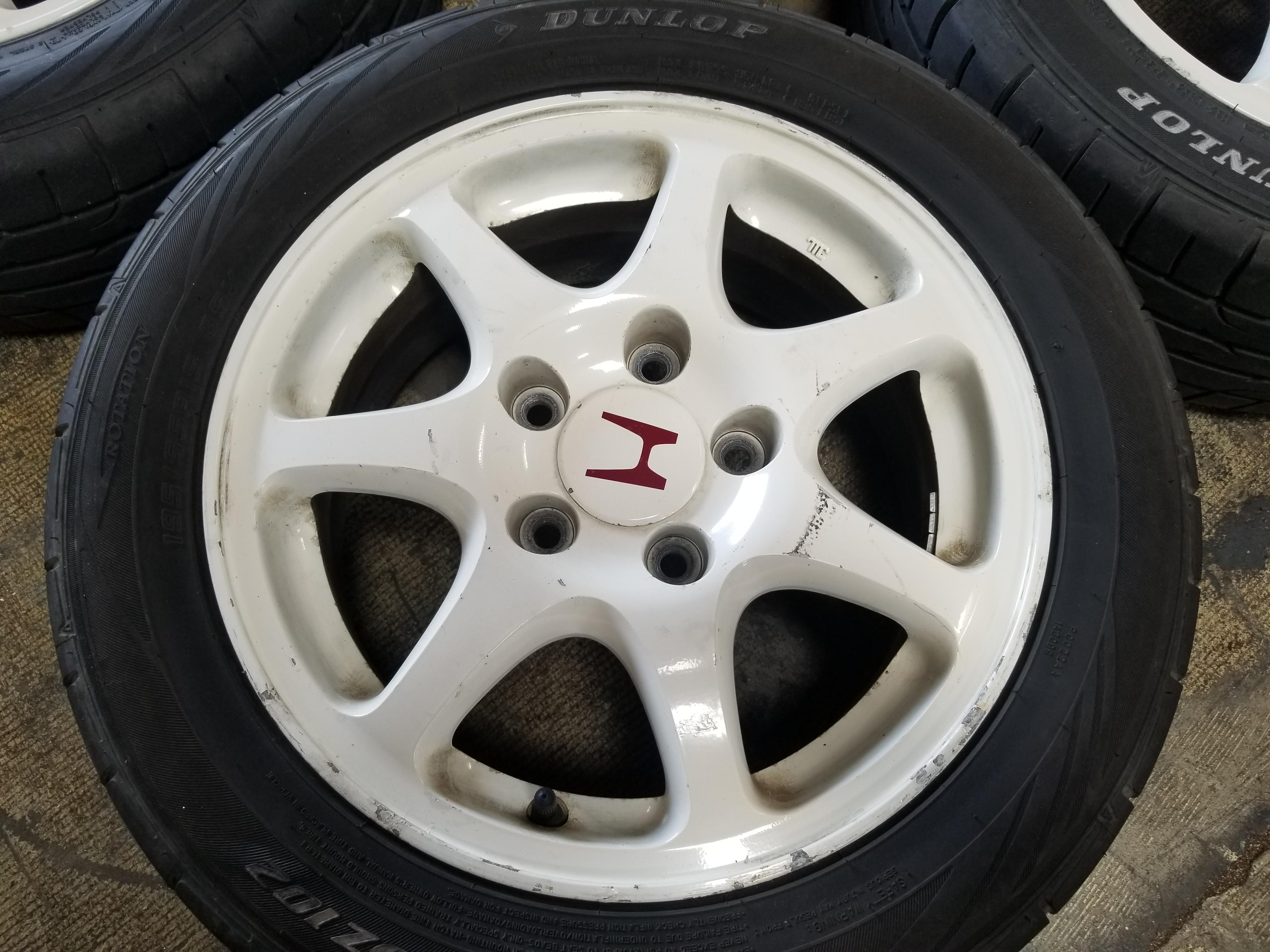 EK9 5X114.3 15X6 +50 Wheels 1996 2000 JDM Honda Civic EK9 Type R Rims EK 5 lug CTR | JDM Of San ...