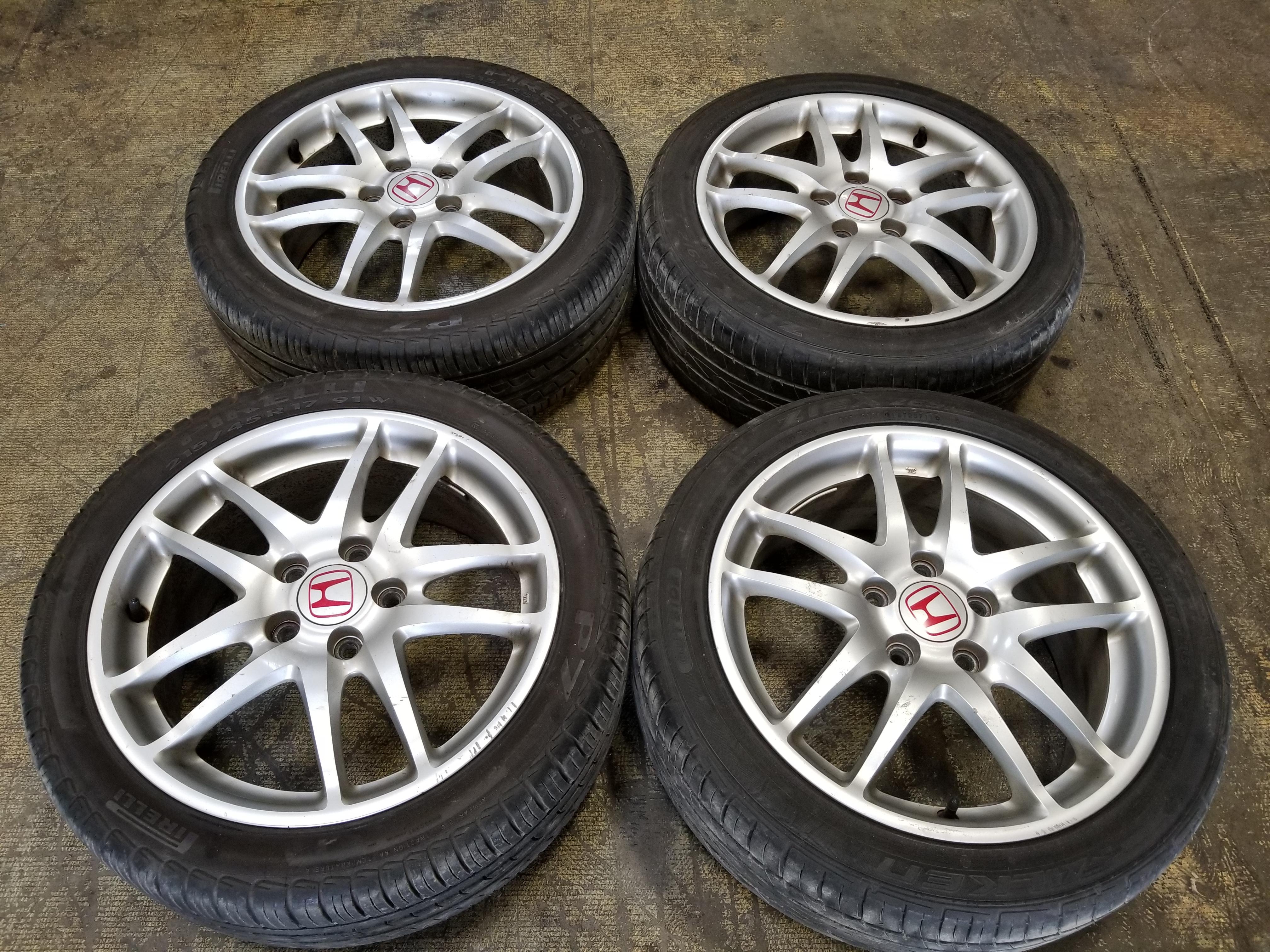 DC Integra Type R RSX Type S Wheels Bridgestone Tires - Acura rsx type s rims for sale