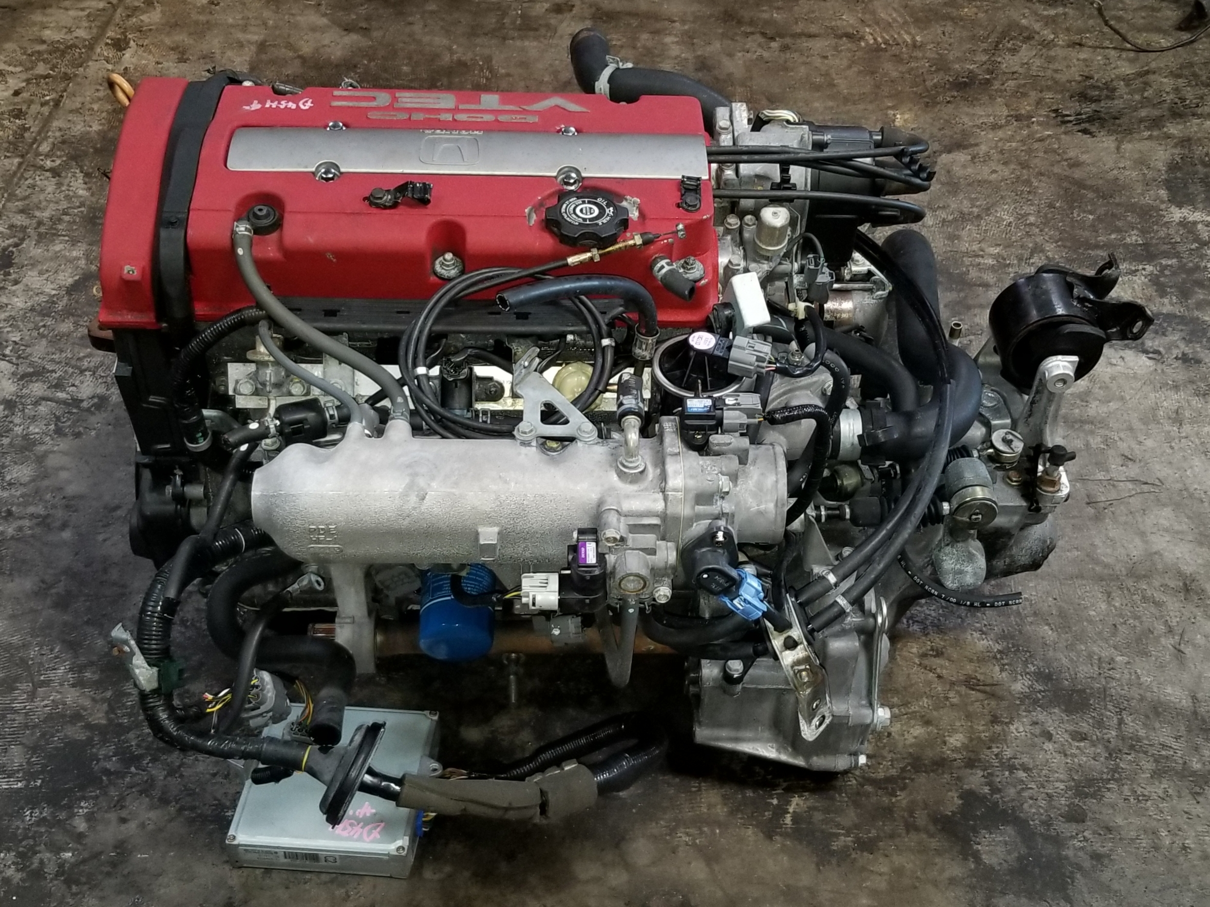 H22A 1997 2001 Honda Accord Prelude 2.2L Euro-R VTEC Engine with T2W4 H A Engine Wiring Harness on dodge sprinter engine harness, suspension harness, oem engine wire harness, hoist harness, engine harmonic balancer, engine control module, bmw 2 8 engine wire harness,