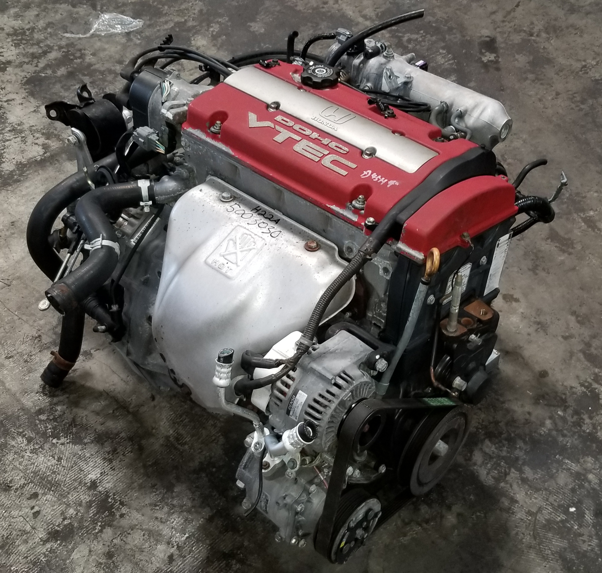 H22A 1997 2001 Honda Accord Prelude 2.2L Euro-R VTEC Engine with T2W4 H A Wiring Harness on