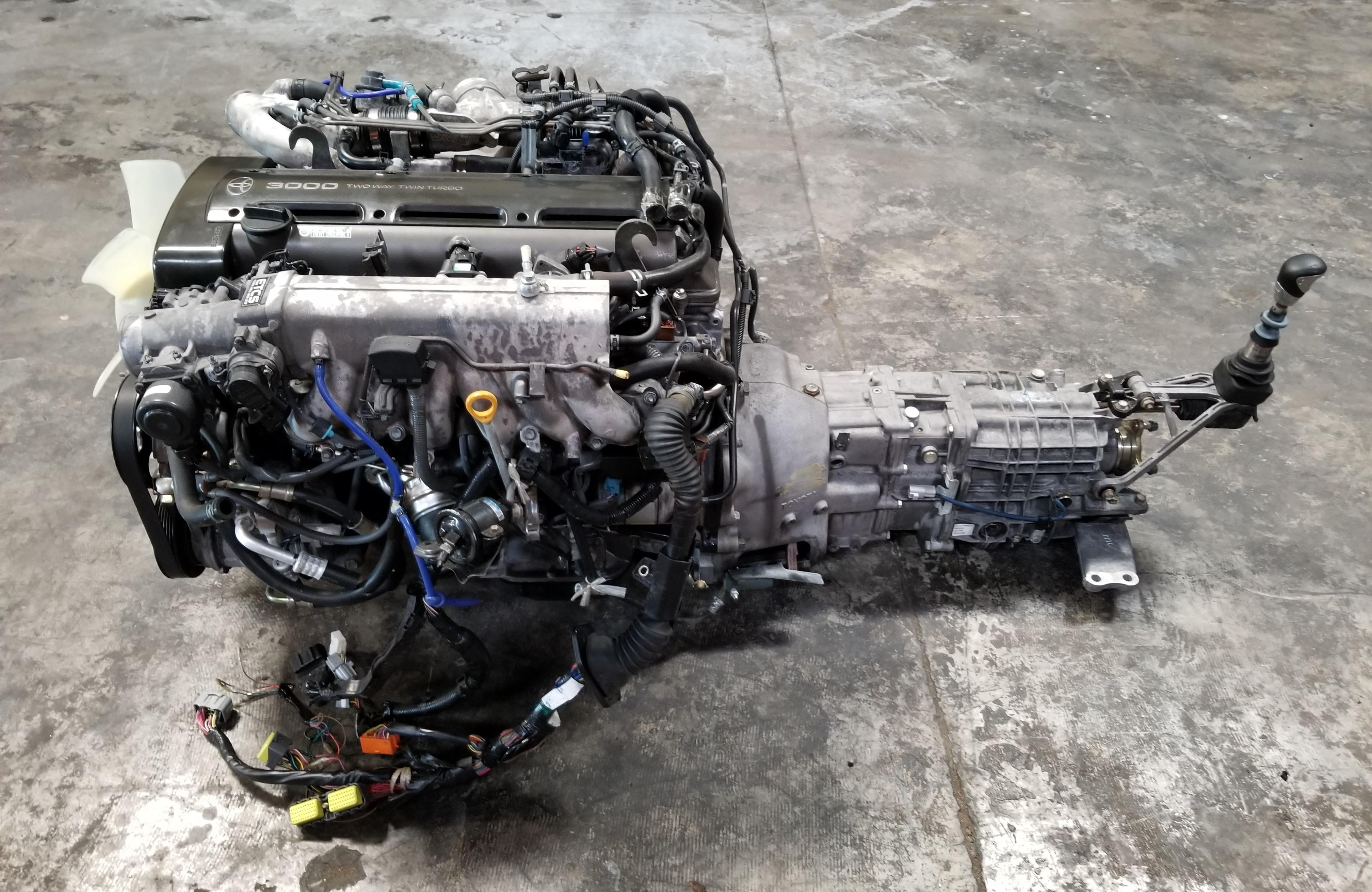 2JZGTE Non-VVTi Twin Turbo Rear Sump 3 0L Engine with V160 Getrag 6 Speed  Manual Transmission MK4 JZA80 Toyota Supra