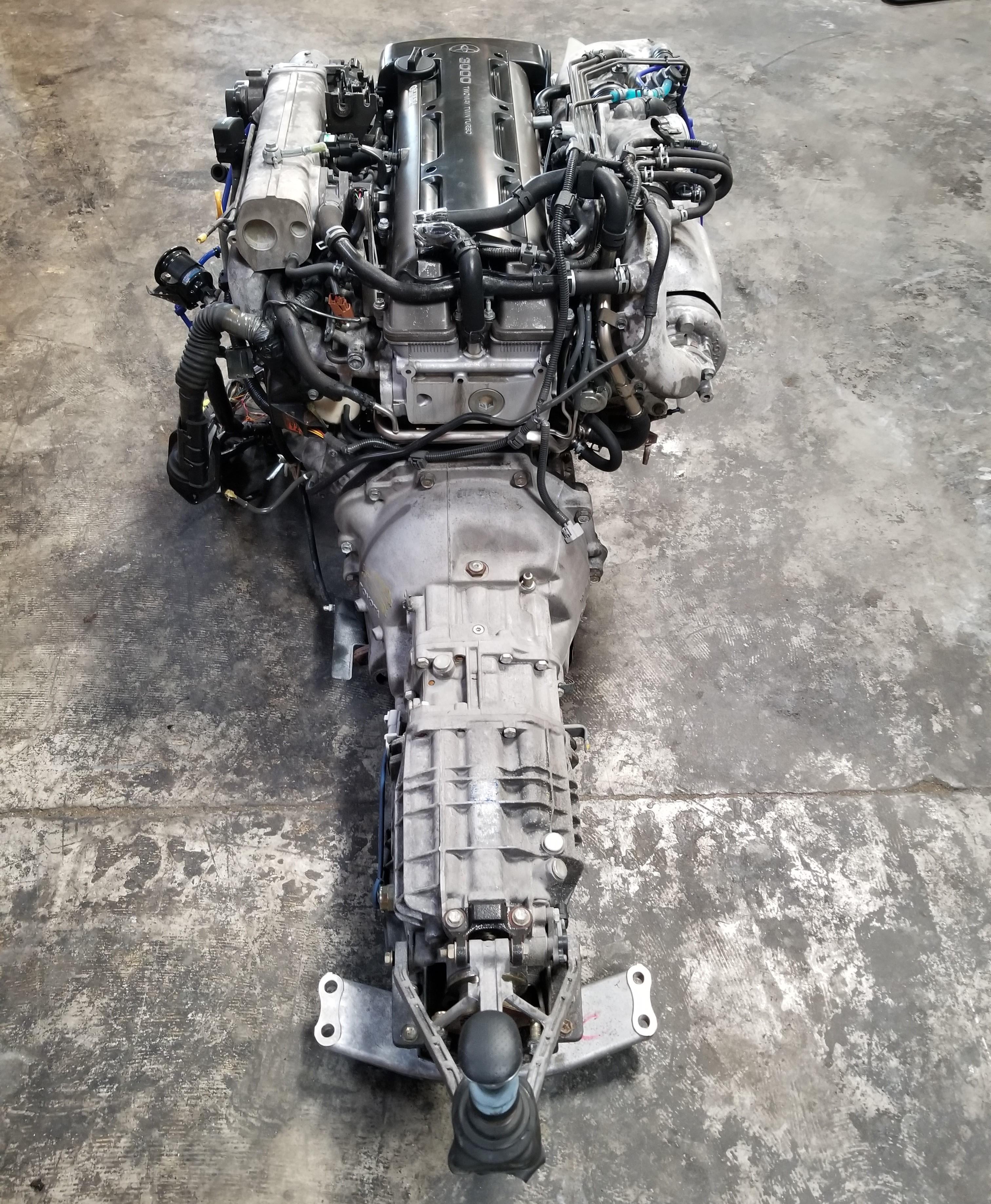 jzgte  vvti twin turbo rear sump  engine   getrag  speed manual transmission