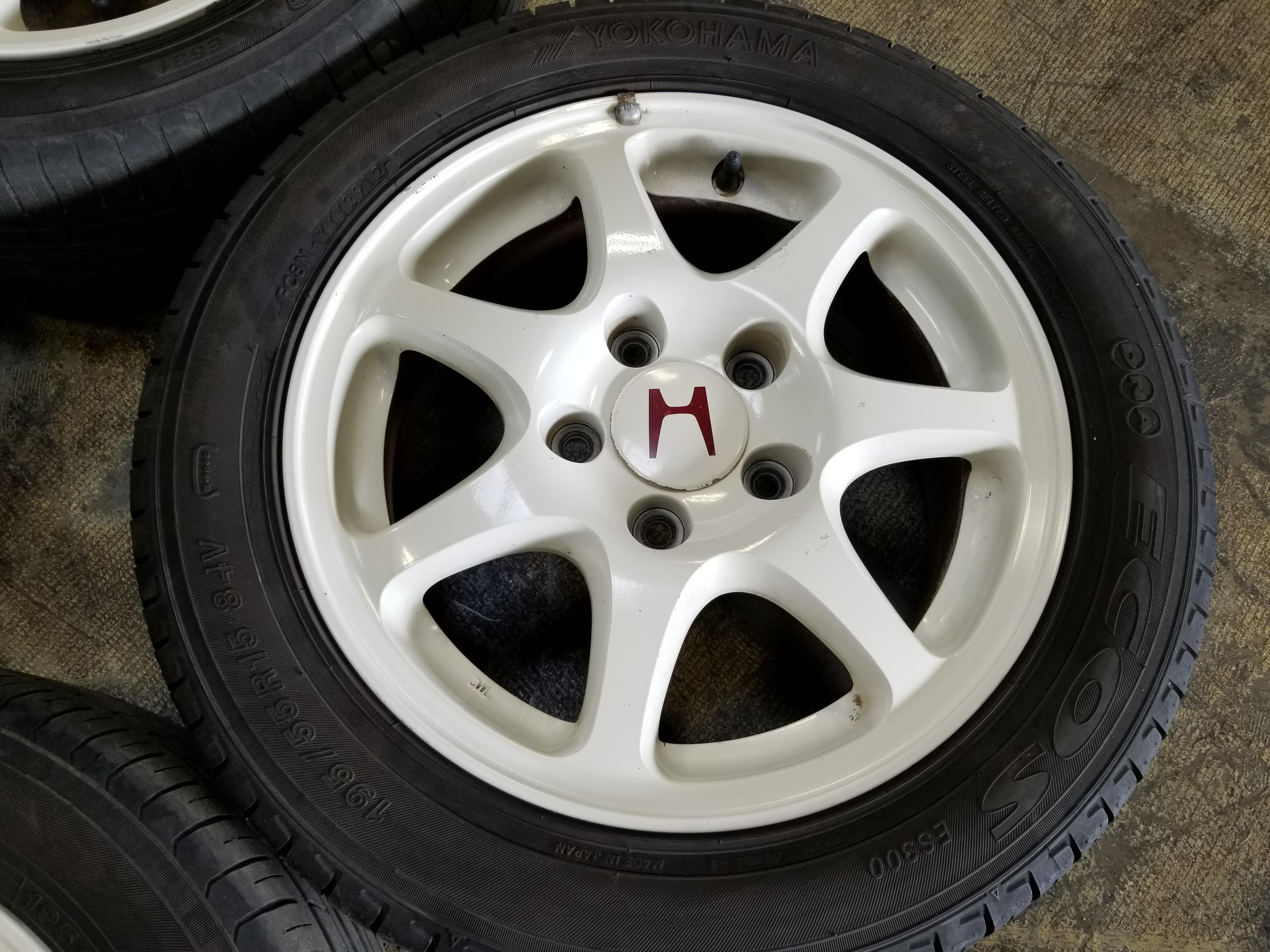 Honda Chula Vista >> EK9 JDM Honda Civic Type-R Wheels EK9 CTR Rims 5×114.3 15X6 195/55/15 Yokohoma Tires | JDM Of ...