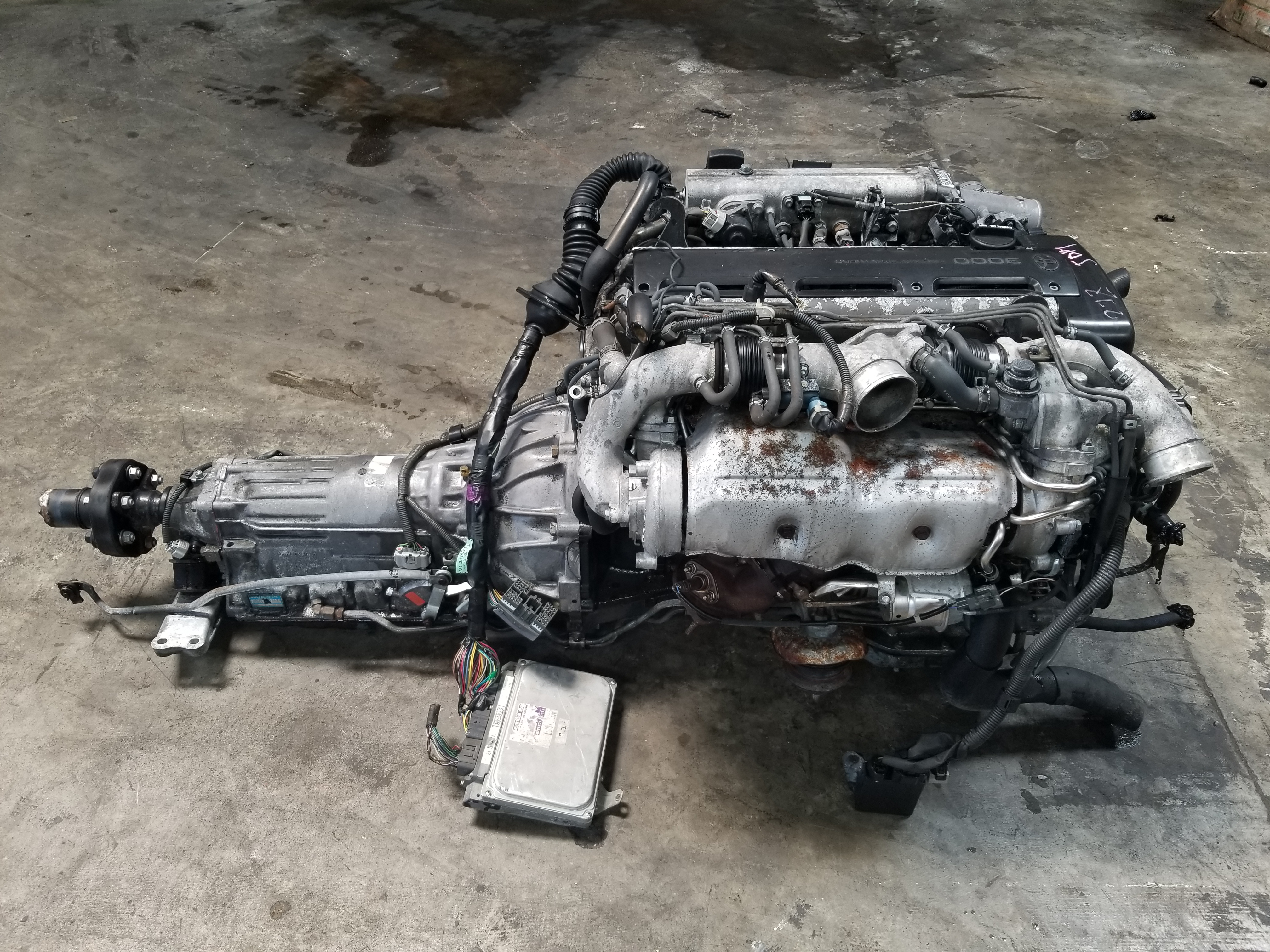 2JZGTE Non-VVTi Twin Turbo 3 0L Toyota 2JZ Engine with Automatic  Transmission Complete Swap (Hard to Get)