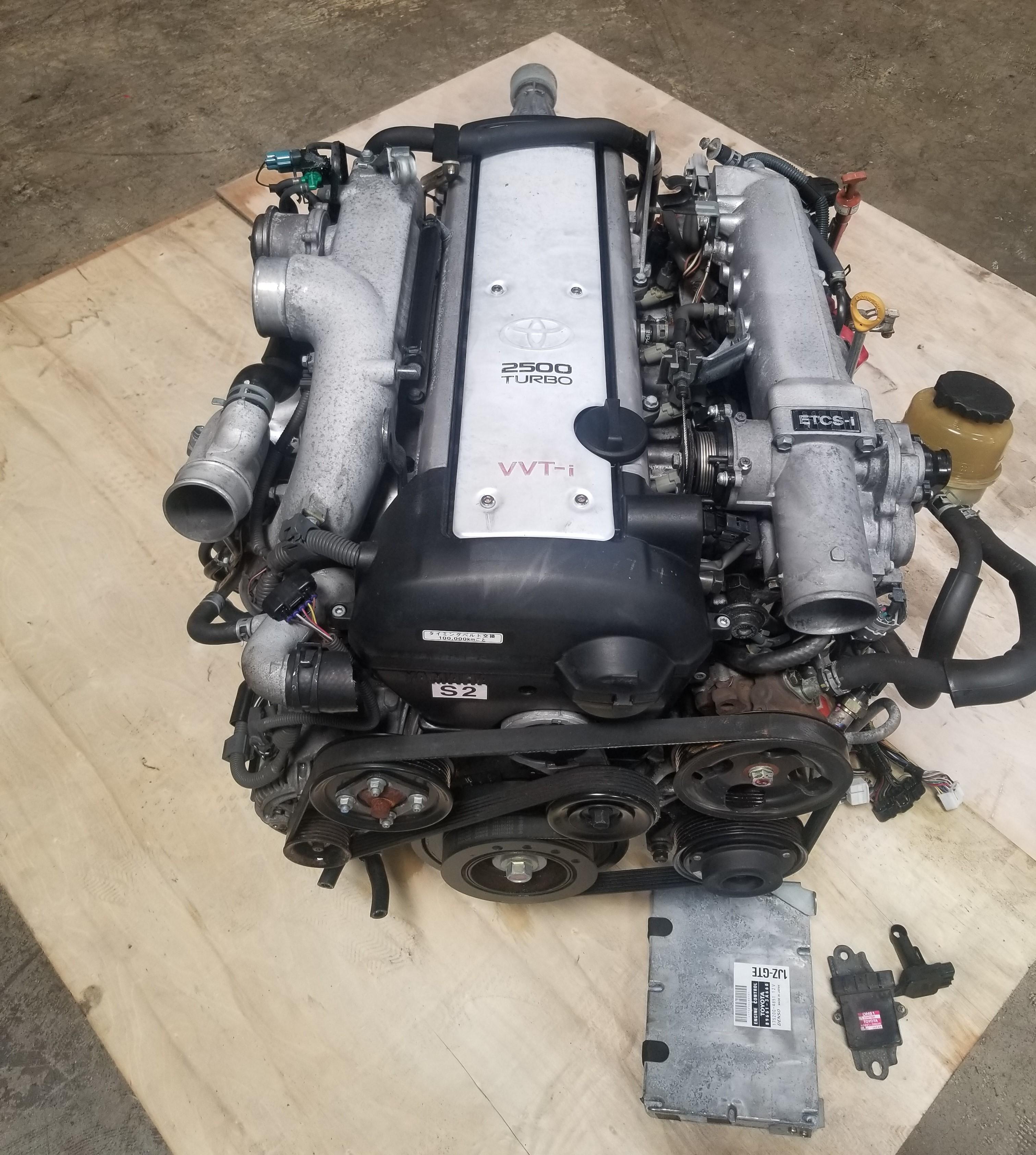 1JZGTE VVTi JZS171/JZX110 Front Sump 1JZ Turbo A/T ECU MAF IGNITER Full JDM  Swap Toyota Chaser, Mark II, Crown