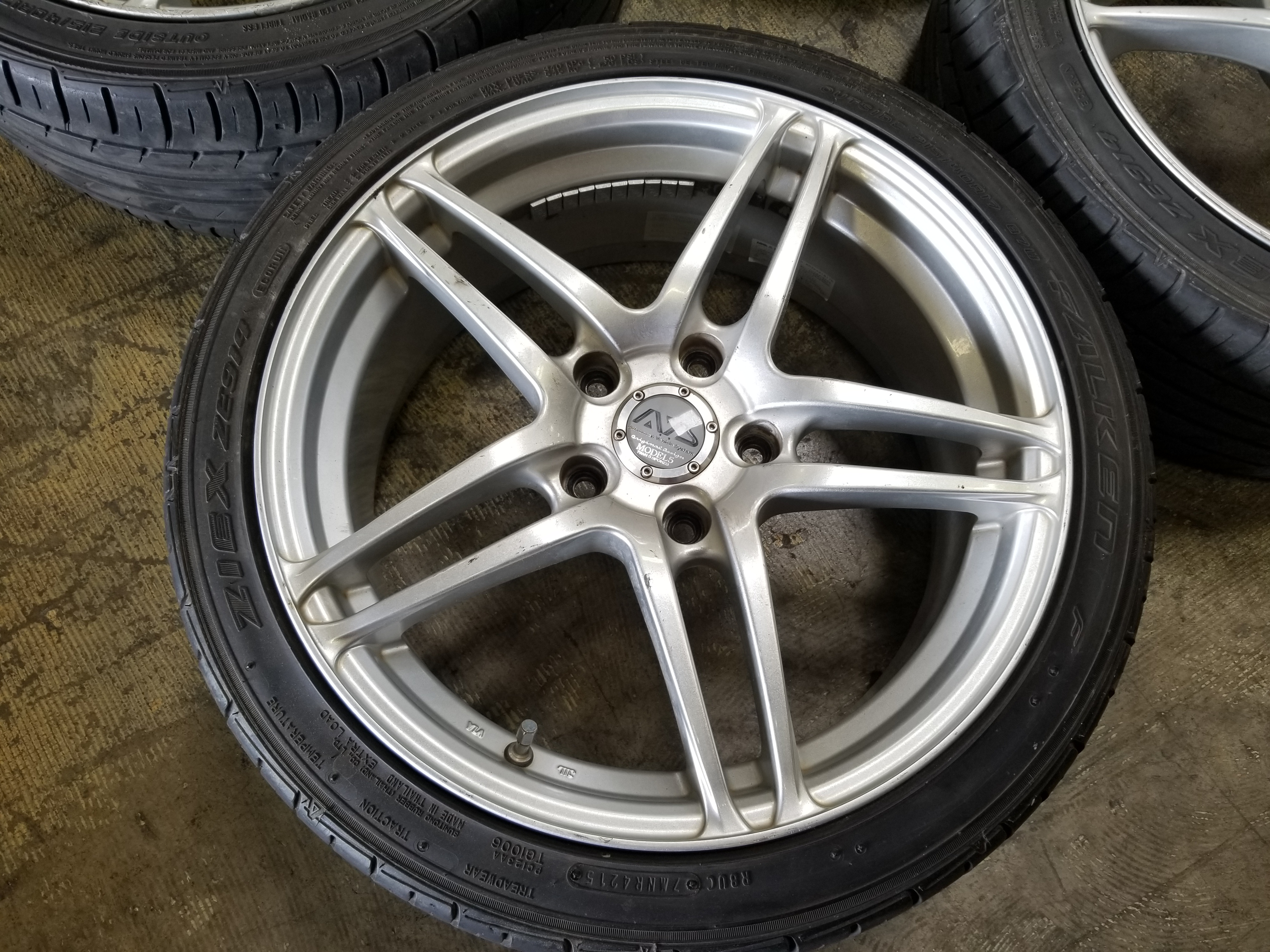 Honda Chula Vista >> 17×7 +45 5×114.3 Yokohoma Advan Model 5 Twin 5 Spoke 215 40 17 Falken Ziex Wheel   JDM Of San Diego