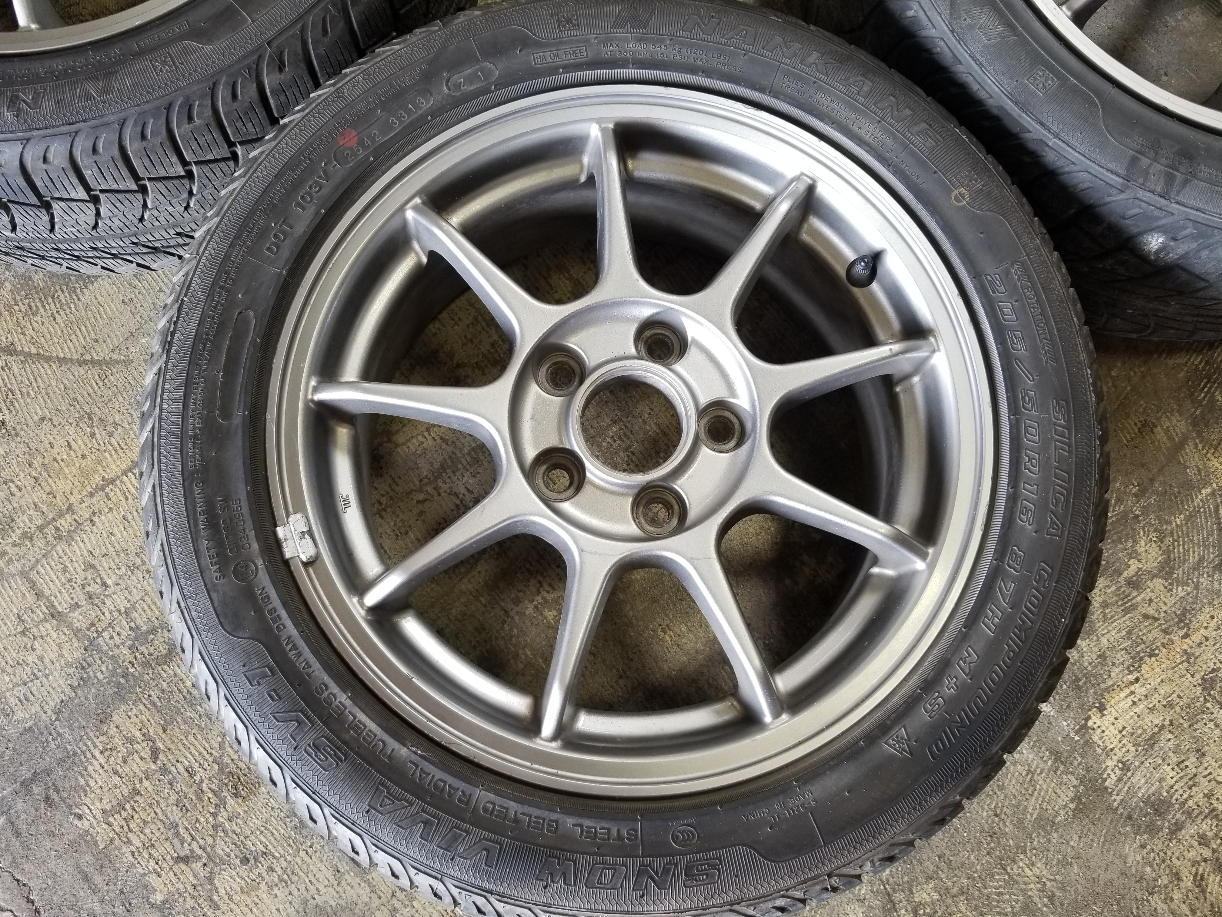 Nissan Chula Vista >> 16×6.5 +55 5×114.3 CL1 Accord Euro R Wheels 205 50 16 Nankang Snow Viva Tires #4 | JDM Of San Diego