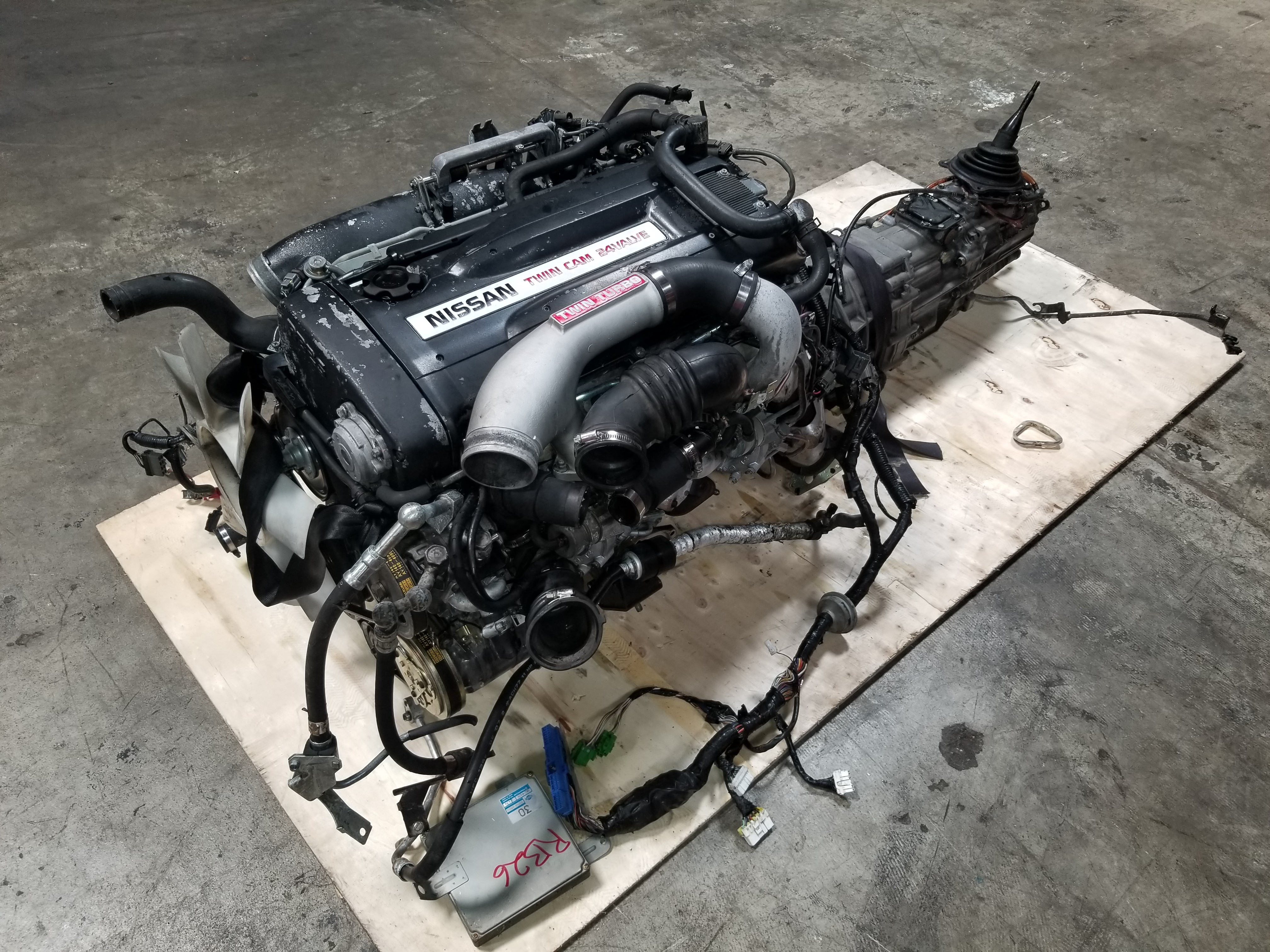 RB26DETT Nissan Skyline GTR R32 2 6L Twin Turbo Engine with 5 Speed AWD  Manual Transmission
