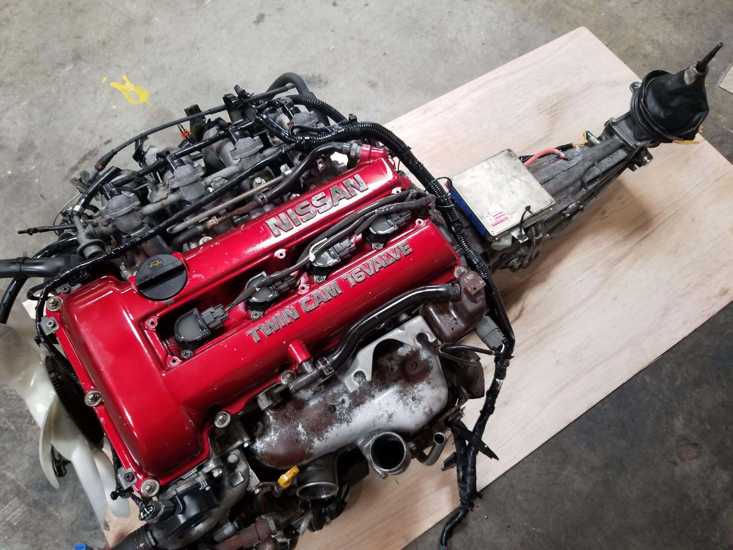 Sr20det S13 Red Top 2 0l Turbo Engine With 5 Speed Manual Transmission Nissan 200sx 240sx Silvia Sr20 Jdm Of San Diego